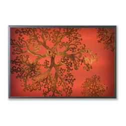 jefdesigns - Gorgonia Limited Edition Light box Painting - White Power Cord - Branch out into the world of modern art with this unique piece that doubles as lighting. If you work in the hospitality industry, it's well-suited to a restaurant, hotel lobby or bar. But you can also use it in your home or at the office to add a clean, contemporary look to your interiors.