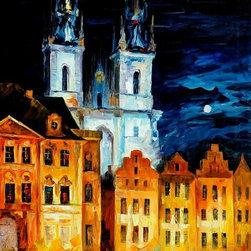 Leonid Afremov - Blue Castle Oil Painting On Canvas By Leonid Afremov - Oil painting on canvas