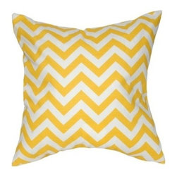 "Elisabeth Michael - Chevron Pillow - Features: -Material: 100% Cotton. -Zippered closure. -Home decor weight fabric. -Fabric is the same on both front and back. -Spot wash or use woolies to wash. -Air dry. -Made in the USA. Dimensions: -20"" H x 20"" W x 4"" D, 2 lbs."