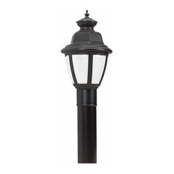 Sea Gull Lighting - 1-Light Post Lantern Black - 82390BL-12 Sea Gull Lighting Belmar 1-Light Outdoor Post Lantern with a Black Finish