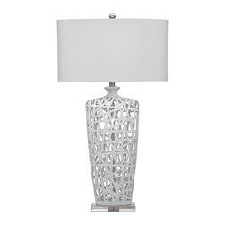 Bassett Mirror - Bassett Mirror Erowin Table Lamp L2528TEC - Bassett Mirror Erowin Table Lamp L2528TEC