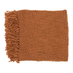 None - Woven Forest Acrylic and Wool Throw Blanket - Add warmth to your living space with this red-orange,wool-woven throw blanket. Whether you are looking for a splash of color to accent a certain space,or additional heat on a chilly evening,this cozy throw blanket will satisfy your needs.