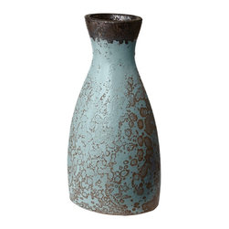 Lazy Susan - Lazy Susan LZS-857058 Rustic Persian Watering Jug - Small - You don't see many water bottles like this these days! Exquisite in its rustic style, this water jug is an elegant way to add texture and visual interest to your style. Organic lines and a deeply patinaed blue surface make this piece a versatile addition to both contemporary eclectic and rustic homes.