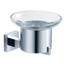 Fresca - Fresca Glorioso Soap Dish (Wall Mount) - Chrome - All of our Fresca bathroom accessories are made with brass with a triple chrome finish and have been chosen to compliment our other line of products including our vanities, faucets, shower panels and toilets.  They are imported and selected for their modern, cutting edge designs.