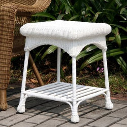 Jeco Outdoor Wicker Patio Furniture End Table - Not just a complementary piece to any patio set, the versatile Jeco Outdoor Wicker Patio Furniture End Table can also find a home indoors. Although it matches traditional wicker chairs and loveseats, it's made of a hand woven, modern all-weather resin wicker with a sturdy steel frame. So you can leave it outside year-round and it won't deteriorate. About Jeco Inc.Whether it's a timeless, traditional design you're looking for, or something more modern and contemporary, Jeco Inc. likely has something to suit your relaxation needs. Offering numerous types of patio furniture, indoor furniture, water fountains, home decor and pet products, the company, formed in 2009, works with designers that search the world for inspiration and create innovative yet functional products that are built with quality and durability.