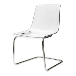 Tobias Chair, Clear - These acrylic chairs from Ikea are a totally affordable way to get the look.