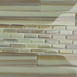 Bodesi - Bodesi Sublime 2x12 Glass Subway Tile  7.5 Sq Ft Box - This hand painted subway glass tile has a warm feel, mostly variations of gentle browns and tans.This 2�12 is part of our hand painted series.It matches perfectly with our Sublime Mosaic Tile.It has undertones of coolness that pull everything together. With a combination of warm and cool colors, this tile is very versatile; It can be used in both kitchen and bathrooms. This hand painted mosaic looks good as an accent, a full backsplash or a full feature wall. A very attractive tile that provides an overall look that is very impressive. These tiles are packaged individually for maximum versatility when designing your kitchen or bathroom renovation.down your pattern