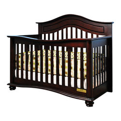 AFG Baby - AFG Baby Jordana Convertible Crib in Cherry - The Lia Crib from our Jordana Collection boasts a bold, assertive style that brings pronounced elegance into any nursery. Designed with a tasteful twist on the classic missionary style, the Lia Crib is timeless and sure to become the centerpiece of those joyous early years. Uncompromising in quality and strength, the Lia is built to last with a solid hardwood construction and nontoxic finish. It features an adjustable 3-level mattress support can be converted into a toddler bed or full-size bed. Guardrail and conversion rails sold separately.