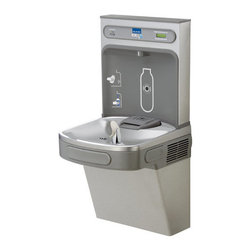"Elkay - Elkay LZS8WSVRLK N/A EZH2O EZH2O Wall Mount Drinking Fountain and - EZH2O Wall Mount Drinking Fountain and Bottle Filling Station with Vandal Resistant Bubbler, Filter, and Glass FillerIdeal for education, healthcare facilities, fitness clubs, and hospitality. EZH2O bottle filling station provides convenient hydration, reduces our dependency on plastic water bottles, provides a rapid fill water to quench thirst and help minimize disposable plastic bottle waste in the environment.Elkay LZS8WSVRLK Features:Complete filtered cooler and bottle filling station in a consolidated space saving ADA compliant designWaterSentry Plus 3000 gallon filter includedFlexi-Guard StreamSaver- BubblerSilver Ion anti-microbial protectionQuick fill 1.1 gpm refrigerated unitLaminar flow provides minimal splashReal drain system eliminates standing waterVisual user interface display includes:Filter Monitor indicating when replacement is necessaryGreen Ticker counting the quantity of 16 oz. bottles saved from the landfill for non-refrigerated units and 12 oz. bottles for refrigerated unitsElkay LZS8WSVRLK Specifications:Base Flow Rate: 1.5gpmShipping Weight: 88 lbsFountain Type: CoolerInstallation Type: WallHands Free Operation: NoHeight: 39-1/8""Width: 18-3/8""Length: 19""Foot Pedal: NoGlass Filler: YesFilter: YesOverall Dimensions: 19"" L x 18.375"" W x 39-1/8"" HCalifornia AB1953Low Lead Compliant: YesADA Compliant: Yes"