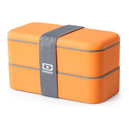 Monbento - MB Original Bento Box - 2013 Collection, Orange - Dressing your food means more than just pouring over the sauce. It means keeping it saucy inside and out. Keep your food beautifully organized with these eye-catching bento boxes by Monbento. Each one comes with two BPA-free airtight containers with lids and dividers for uniquely versatile and playful storage.