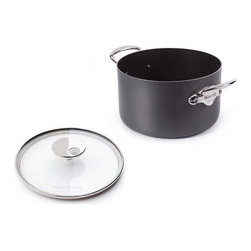 Mauviel - Mauviel M'stone2 Aluminium Induction Stew Pot and Glass Lid, 10.3 qt. - 3 - 4 mm anodized aluminum with grey anthracite ceramic interior and impact bonded induction base; provides superior heat conduction and uniform cooking. Works on gas, electric, halogen and induction stove-tops.