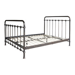 Marco Polo Imports - Hermine Queen Iron Bed - Classic queen platform bed crafted from modern iron in a vintage black finish.