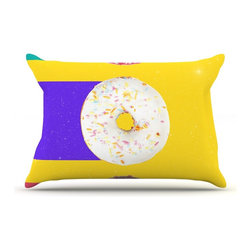 """Kess InHouse - Danny Ivan """"Donuts"""" Pillow Case, Standard (30"""" x 20"""") - This pillowcase, is just as bunny soft as the Kess InHouse duvet. It's made of microfiber velvety fleece. This machine washable fleece pillow case is the perfect accent to any duvet. Be your Bed's Curator."""