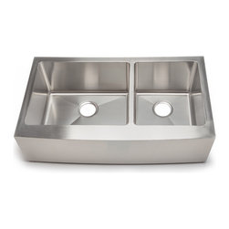 Hahn - Hahn Chef Series - Handmade  60/40 Double Bowl Farmhouse Sink, Extra Large - Traditional style meets modern appeal with the Handmade Chef Series from Hahn.  Boasting tight clean corners and a sleek sophisticated feel, the Hahn Farmhouse 60/40 Double Sink will give your kitchen a unique modern touch.  With deep bowls for functionality and ample work space, this versatile farmhouse sink is an essential addition to any designer kitchen!