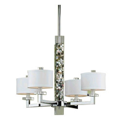 Candice Olson 7454-4H Sahara Polished Chrome 4 Light Chandelier - Candice Olson 7454-4H Sahara Polished Chrome 4 Light Chandelier - Wattage: 40 W. - # of Bulbs: 4. - Socket Type: Candle Base. - Installation Required: Yes. - Weight: 14.5lbs.