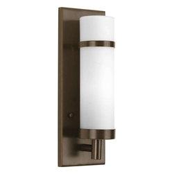 Progress Lighting - Progress Lighting 1-Light Wall Sconce in Antique Bronze - P7081-20 - Description: