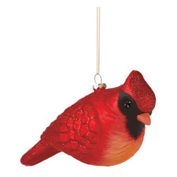 Midwest CBK - Oversized Cardinal Christmas Tree Ornament - Glass Large Bird Red Holiday Gift - Oversized Cardinal Christmas Ornament
