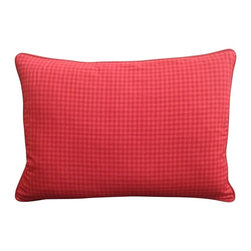 Red Rectangle Pillow - timeless classic, our Red Square Pillow will add warmth and style to any living space.  The simplistic red checkered print will charm and accentuate any decor.