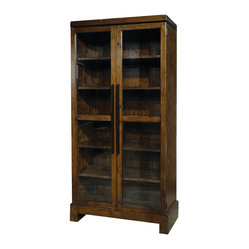 Four Hands - Camino Bookcase - Offering a traditional spin on a contemporary form, this two-door ...