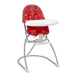 Valco Baby - Astro High Chair - Perfect for today's urban lifestyle, the chic Astro high chair simply does what a compact high chair should to do... with style! The Astro sits on a stable yet compact base. The simple effectiveness of our unique fold system means the Astro collapses flat for easy storage! Features: -Deep adjustable / removable tray.-Leatherette easy clean fabric.-Compact fold which stands upright.-Collection: Astro High Chair.-Distressed: No.Dimensions: -Overall Product Weight: 15 lbs.