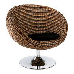 Eurostyle - Oliana Swivel Chair-Trpl Brn - Triple brown polyethylene resin