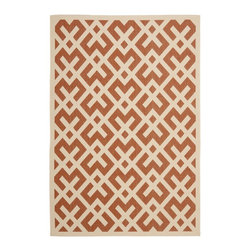 "Safavieh - Courtyard Red/Brown Area Rug CY6915-231 - 2'4"" x 9'11"" - Safavieh takes classic beauty outside of the home with the launch of their Courtyard Collection. Made in Belgium with enhanced polypropylene for extra durability, these rugs are suitable for anywhere inside or outside of the house. To achieve more intricate and elaborate details in the designs, Safavieh used a specially-developed sisal weave."
