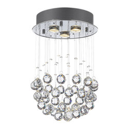 Modern Chandelier Rain Drop Lighting Crystal Ball Fixture Pendant Ceiling Lamp - Modern chandelier rain drop lighting crystal ball fixture pendant ceiling lamp h18 X d12, 3 lights.