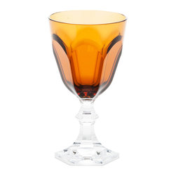 Mario Luca Giusti - Acrylic Dolce Vita Amber Water Goblet - Could you tell this is acrylic? It looks so real that everyone thinks it's crystal until they lift it. It is perfect for both casual and upscale gatherings.