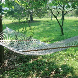 Fifthroom - Rochester Rope Hammock - If you don't believe that the simplest things in life can bring the most pleasure, it's time you tried our Rochester Rope Hammock.  With its construction from weather-resistant Olefin Rope, it conforms to the contours of your body, providing total support and complete comfort.  You can hang this Hammock between two of your favorite shade trees, a couple of sturdy posts, or on one of our durable Hammock Stands.  Available in a variety of cheerful colors, it's a simple thing that's also very stylish.