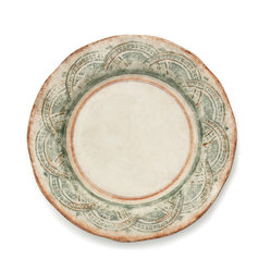 Arte Italica - Chianti Dinner Plate - For delightful dining, bring the essence of the Tuscan countryside to your table. The rich yet subtle colors of this hand-painted ceramic plate will elevate everyday meals and serve guests with elegant yet rustic villa style.