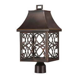 Capital Lighting - Capital Lighting 9435 Bromley 1 Light Outdoor Dark Sky Post Light - Capital Lighting 9435 Bromley 1 Light Outdoor Dark Sky Post LightWith a unique Dark Sky compliant design that casts light downwards into the ornately classic cage, this lantern style outdoor post light will provide plenty of light and style to any outdoor location without causing unnecessary light pollution so we may all enjoy the night sky.Capital Lighting 9435 Features: