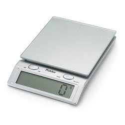 POLDER - Easy-Read Digital Kitchen Scale, Silver - Get cooking projects done in a snap with our Easy-Read Digital Kitchen Scale. This scale allows you to weigh multiple items consecutively without removing from scale. The auto shut-off feature saves energy so you don't have to worry about running out of batteries too soon.