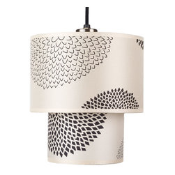 Lights Up! - Deco Small Pendant Lamp, Black Mumm - Mum's the word on how simply and affordably you invigorated your living space with this charming floral pendant lamp. It's a fun and easy way to rejuvenate your decor.