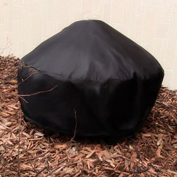 Fire Pit Covers Round - Heavy Duty Fire Pit Covers in Black or Beige.
