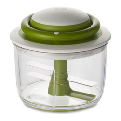 Chef'n VeggiChop Vegetable Chopper - This hand-powered chopper will chop fruit, vegetables, herbs and nuts with its strong blades.