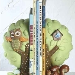 Learning to Fly Baby Owl Decorative Nursery Bookends - It's never too early to instill the love of reading in your child. Keep books on display with these adorable woodland bookends.