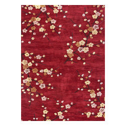 Jaipur Rugs - Hand-Tufted Floral Pattern Polyester Red/Yellow Area Rug ( 2x3 ) - A youthful spirit enlivens Esprit, a collection of contemporary rugs with joie de vivre! Punctuated by bold color and large-scale designs, this playful range packs a powerful design punch at a reasonable price.