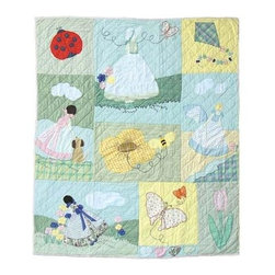 Patch Magic - Sundress Throw - 50 in. W x 60 in. L. 100% Cotton. Handmade, hand quilted. Machine washable. Line or flat dry only