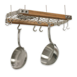 Mini Ceiling Oval Pot Rack, Natural