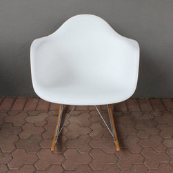 wing rocking chair - white - please e-mail us at info@redinfred.com for more information + purchasing availability