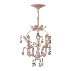 Crystorama - Crystorama Vienna Wrought Iron Floral Mini Chandelier 5823-BH Multicolor - 5823- - Shop for Chandeliers from Hayneedle.com! About Crystorama IncCrystorama Lighting was founded in Brooklyn New York in 1958 by Abraham Kleinberg. The company was initially established as a primary importer of crystal chandeliers from Bohemia-Northern Czechoslovakia and offered the finest selection of classical crystal designs. Abraham Kleinberg s passion as an artist and designer was inspired from various cultures around the world. Through his travels he has incorporated into the product line the full hand cut crystal the craftsmanship of decorative ironwork and the meticulous manner by which ornate castings are hand chased to bring out their intricate detailing. Crystorama s rich heritage has continued over the last 50 years by working with design communities in Europe India Asia and North America. The classically designed chandeliers continue to use the authentic molds and patterns to maintain the traditions of our forefathers. In a world of mass production Crystorama Lighting continues to offer classical chandeliers that require years of experience and specialized craftsmanship.