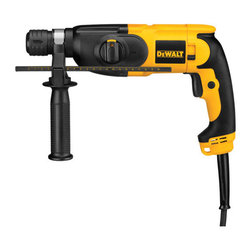 "Dewalt - 7/8 Heavy Duty Sds Rotary Hammer Kit - Lightweight hammer drill with variable speed trigger allows user to instantly control speed, reversing feature helps release tool from bind up situations, SDS shank, allows for usage in rotary hammer or rotary only, integral clutch reduces sudden, high to  rque reactions, 360 degree side handle adjusts easily for preference or use in tight spaces, pistol grip for preferred balance in multiple orientations. Specs: optimal concrete drilling 5/32""- 1/2"", impact energy is 1.8ft/lbs, no load speed is 0-1,550RPM,   blows/min is 0-4,150BPM, clutch, 13.2"" long, weighs 5.2lbs.      This item cannot be shipped to APO/FPO addresses.  Please accept our apologies"