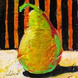 """Oh Pear"" (Original) By Vicki Serva - Playing With Color And Texture, More What If."