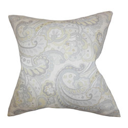 "The Pillow Collection - Iphigenia Floral Pillow Gray - Primp up your interiors with this cozy accent pillow. Its multicolored floral pattern will bring a hint of color to your living space. Create a homey look to your living room or bedroom with this elegant statement piece. Featuring a combination of gray and yellow hues, this 18"" pillow makes lounging extra comfortable and stylish. Constructed with 100% linen material. Hidden zipper closure for easy cover removal.  Knife edge finish on all four sides.  Reversible pillow with the same fabric on the back side.  Spot cleaning suggested."