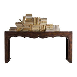 Hooker Furniture - Hooker Furniture Melange Fallon Console Table - Hooker Furniture - Console Tables - 63885019 - Come closer to M��lange and you will discover something unexpected an eclectic blending of colors textures and materials in a vibrant collection of one-of-a-kind artistic pieces.
