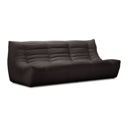 Zuo Modern - Carnival Sofa Espresso - Like curling up in someone's arms, the Carnival sectional set is wrapped in a soft leatherette, padded and tufted in all the right ways. Comes in espresso, black and white.