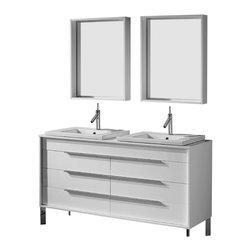 Adornus - Adornus MILANO-60-HGW-C High Gloss White Vanity - * Free standing all wood vanity
