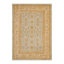 """Safavieh - Rowland Rug, Light Grey / Gold 9'6"""" X 13' - Construction Method: Power Loomed. Country of Origin: Turkey. Care Instructions: Vacuum Regularly To Prevent Dust And Crumbs From Settling Into The Roots Of The Fibers. Avoid Direct And Continuous Exposure To Sunlight. Use Rug Protectors Under The Legs Of Heavy Furniture To Avoid Flattening Piles. Do Not Pull Loose Ends; Clip Them With Scissors To Remove. Turn Carpet Occasionally To Equalize Wear. Remove Spills Immediately. The dramatic patterns of heirloom Serape, Sultanabad and Oushak rugs are recreated for 21st century lifestyles in the Austin Collection. Power-loomed of long-wearing, easy-care polypropylene, each rug stands up to heavy traffic while adding timeless beauty to entry hall, living room, kitchen and more."""