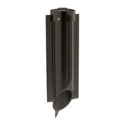 "Kichler - Kichler 15276BK Black Power Post Bollard Stake Power Post Bollard - 19"" Power Post In-Ground Stake for use with Line Voltage Kichler Landscape LightingDirect Wiring - Provides 120V power to a Line Voltage Fixture without the use of a Transformer"