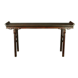 EuroLux Home - Long Consigned Antique Chinese Carved Altar Table - Product Details